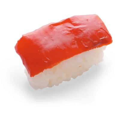 Red Pepper Nigiri - Vegetarian Sushi - Taiko Foods